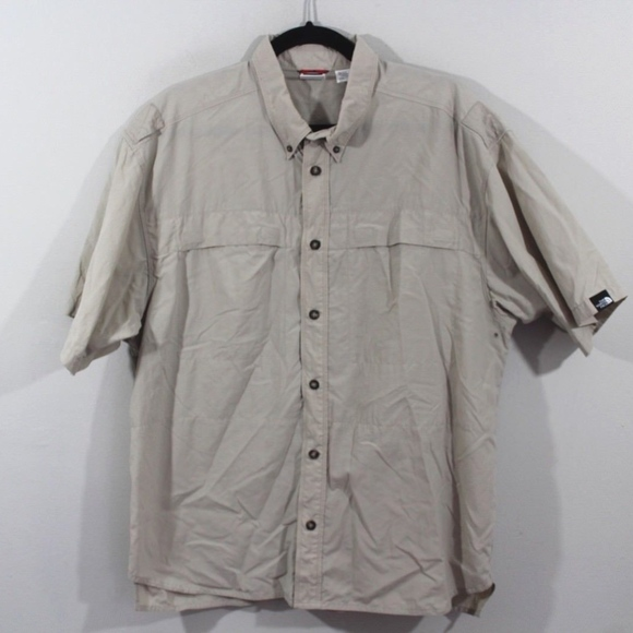 cbe5bc6eb Vintage The North Face Vented Hiking Shirt Tan